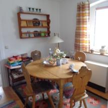 Sitzecke für gemütliche Abende Familien Ferienhaus Oberfranken Issigau